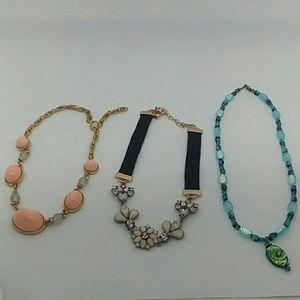 3 Piece Bundle of Choker Necklaces